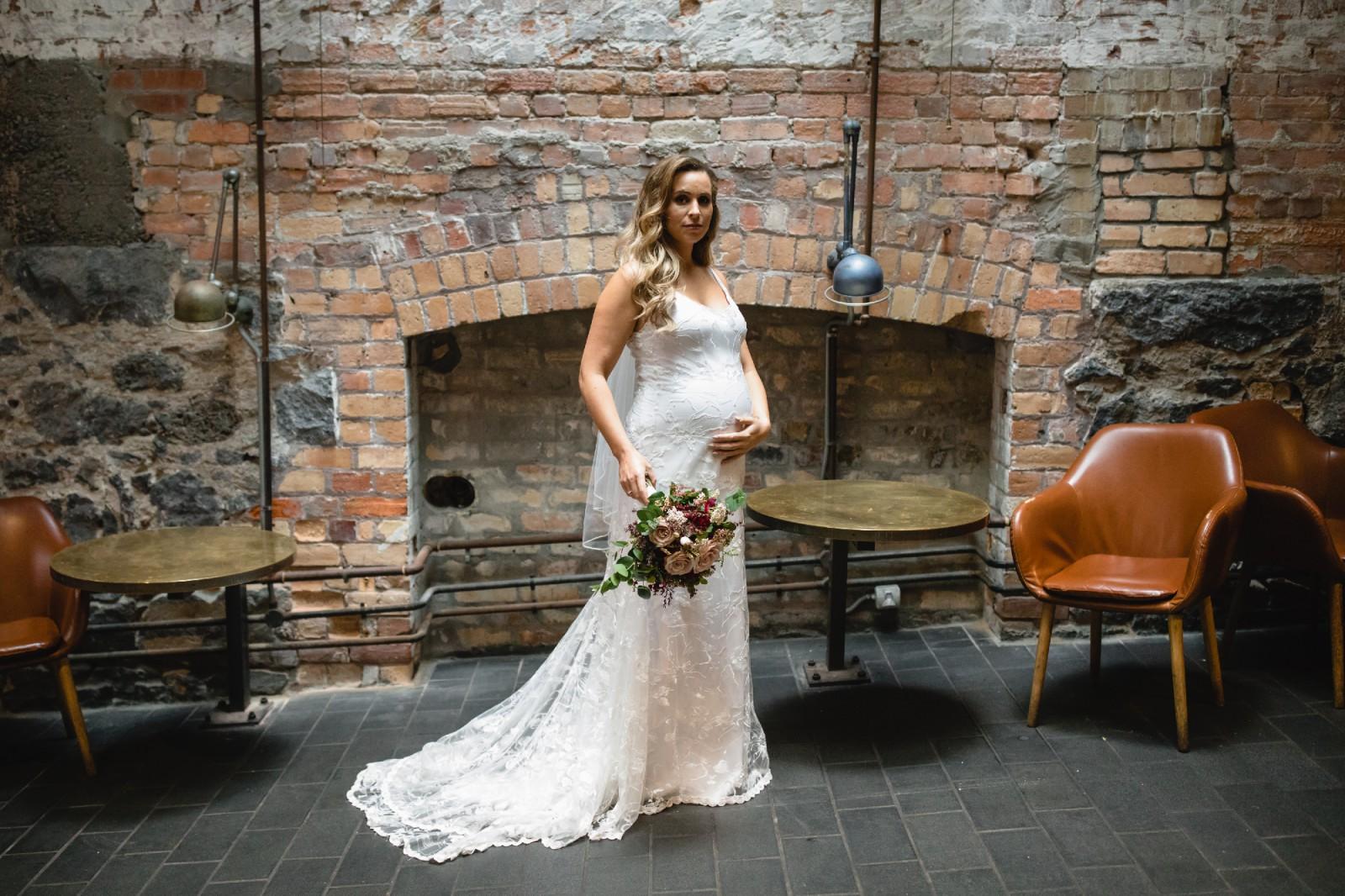 dd2570622af9a Q'nique Bridal Custom made maternity dress Preowned Wedding Dress on ...