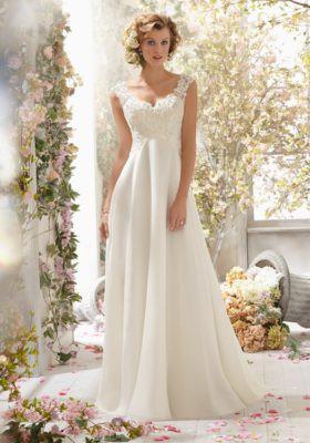 Madeline Gardner, Morilee Bridal Alençon Lace Wedding Dress on Delic