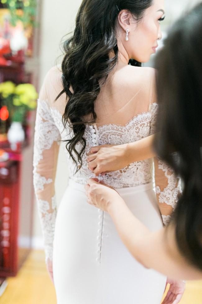 Pronovias, Dracma Illusion Bodice Crepe & Tulle Mermaid Gown