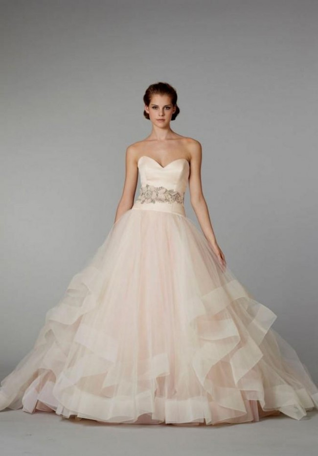 cf6b08e709a Lazaro Sherbert Ball Gown  Lazaro Style 3250 Preloved Wedding Dress ...