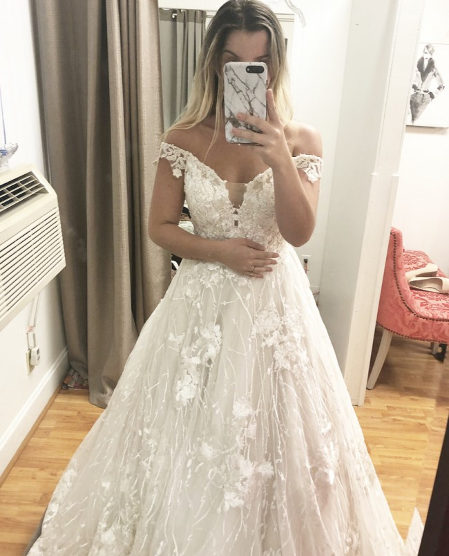 Adrianna Papell Louisa / with custom alterations