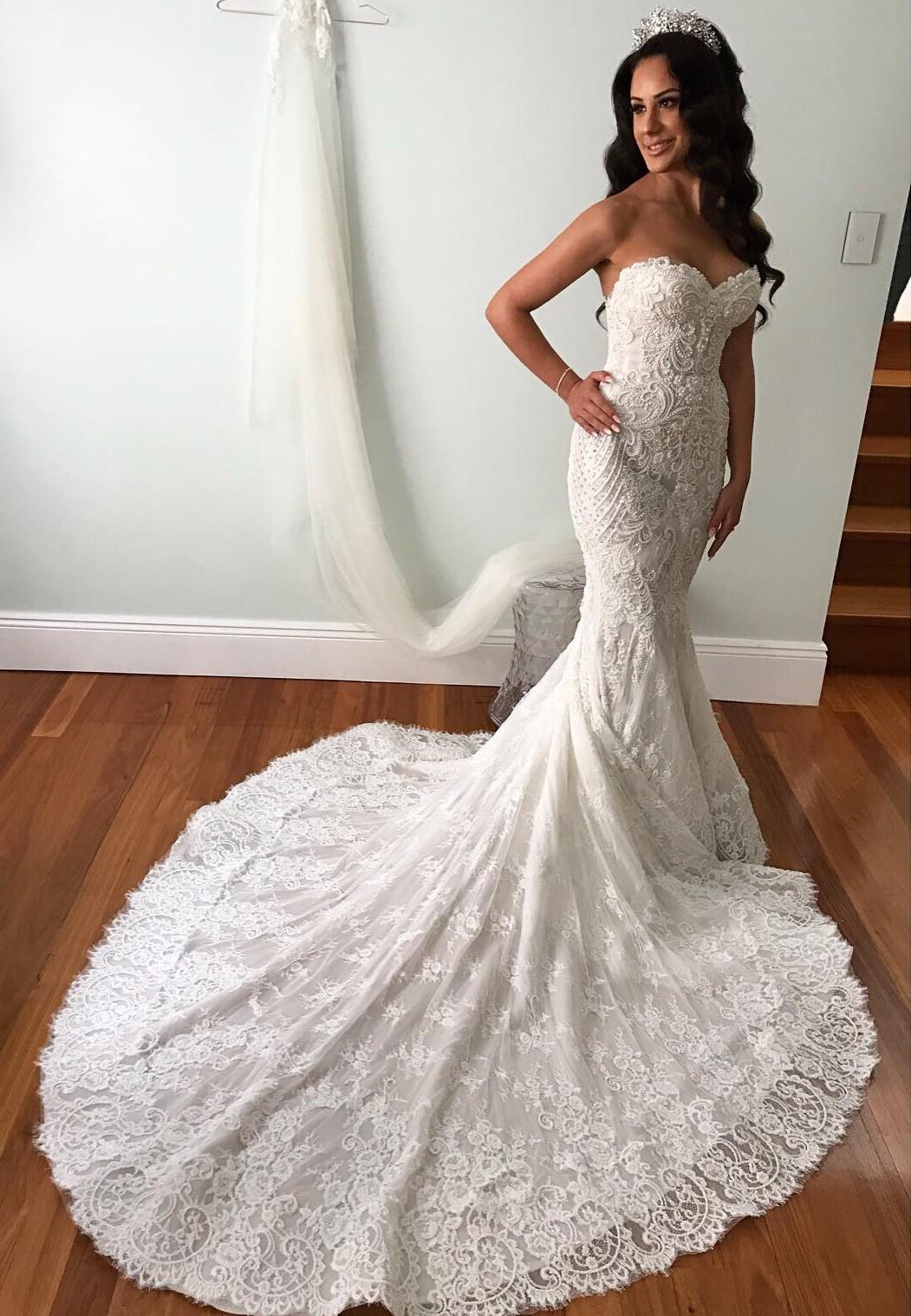 ce952525a8 Steven Khalil Custom Made Second Hand Wedding Dress on Sale 60% Off ...