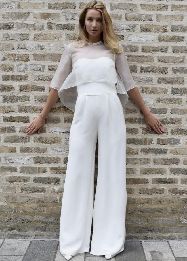 Poppy Dover Silk Strapless Jumpsuit