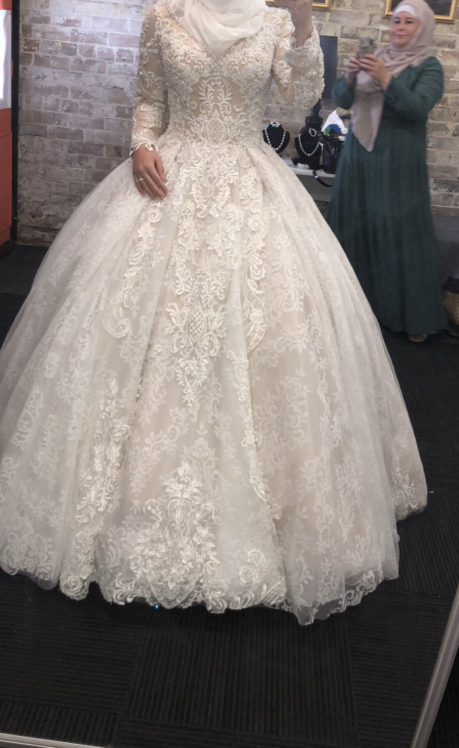 Demetrios, claudette ball gown