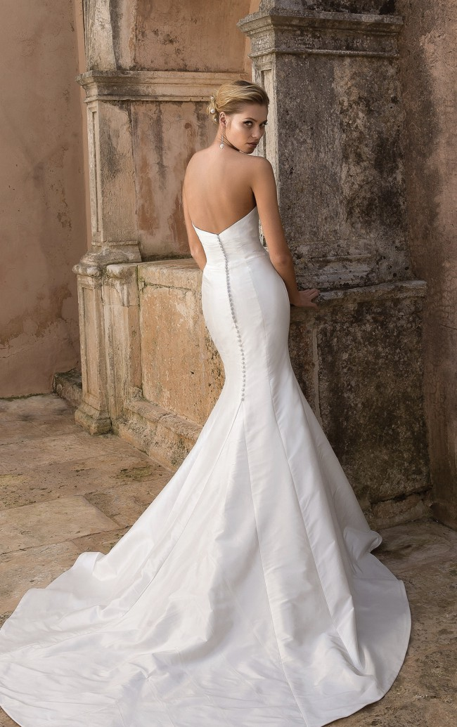 Justin Alexander Silk Dupion Fit and Flare