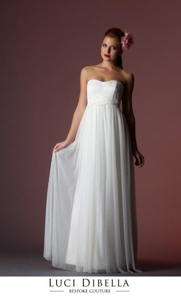 Luci Di Bella, Charlotte Wedding Dress, French Lance