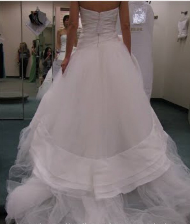 Vera Wang Used Wedding Dress On Sale 75% Off