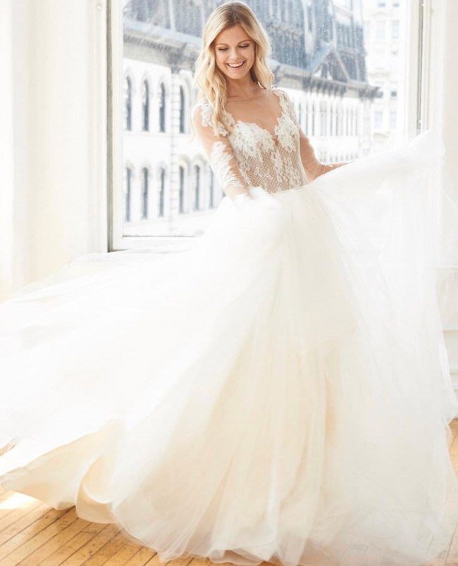 eea3369c6db6 Hayley Paige Pippa New Wedding Dress on Sale 41% Off - Stillwhite