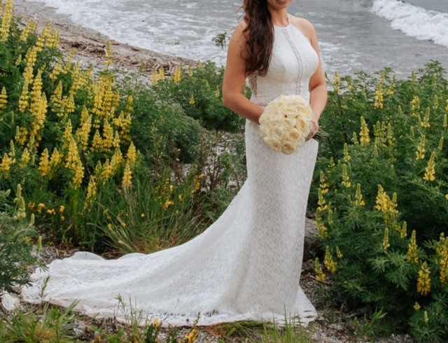 Galina WG3888 - Floral Lace Racerback Sheath