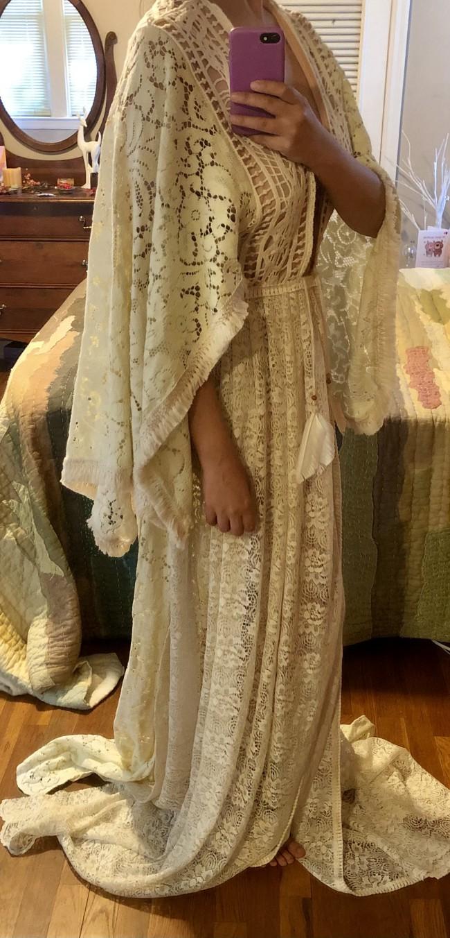 Sheath Paisley~Kate Wrap Kimono Gown by Reverie Lace