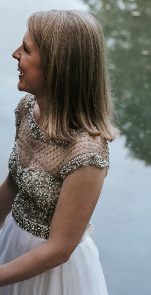 Collette Dinnigan, Lattice Pearls Beaded Bodice Gown