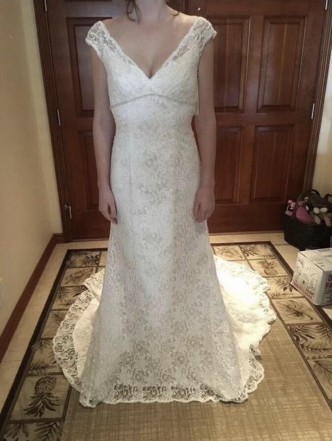 David's Bridal Beaded Lace Trumpet Al10030205