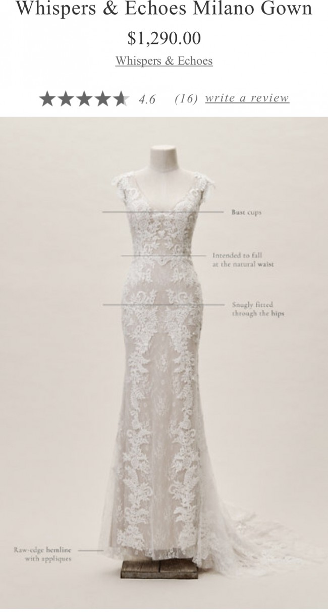 Whispers & Echoes, Milano Gown