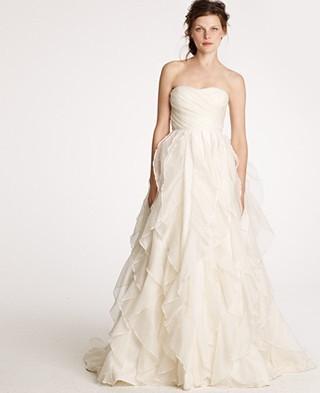 J Crew Wedding Dress.J Crew Waterfall Gown Size 8