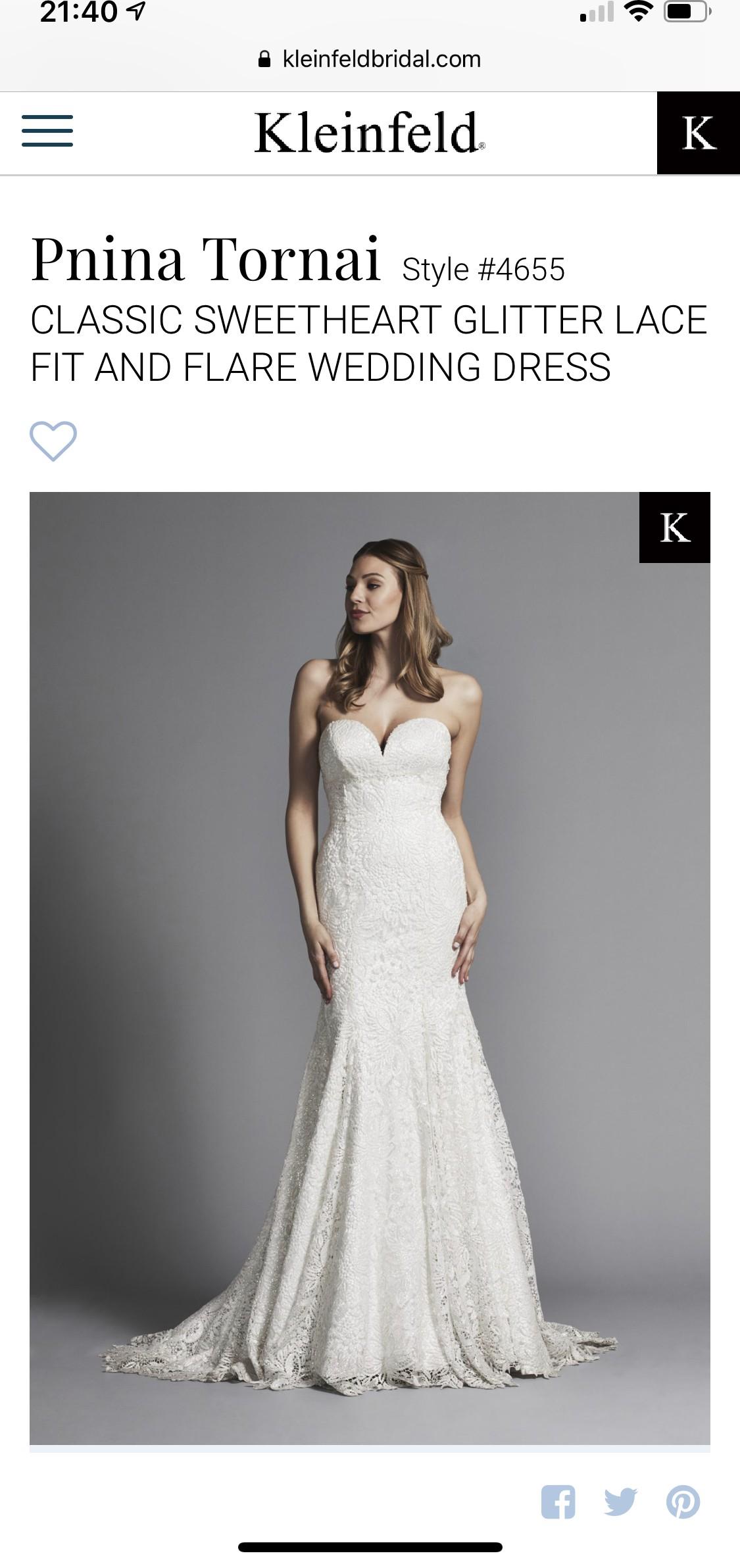 db729f30631 Pnina Tornai Off White Lace 5179 - 4655 Feminine Wedding Dress Second Hand  Wedding Dress on Sale 50% Off - Stillwhite United Kingdom