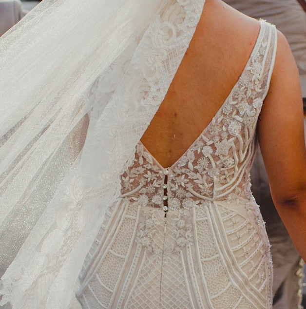 Badgley Mischka Charlize Used Wedding Dress On Sale 16