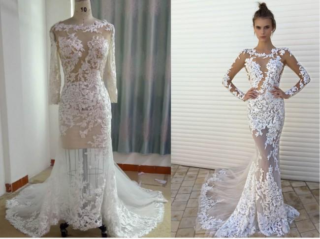 18bd248fb113c Darius Cordell Berta Inspired Long Sleeve Bridal Gown New Wedding ...