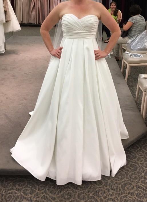 David's Bridal, Price Reduced!: David's Bridal WG3707 Pleated Stra