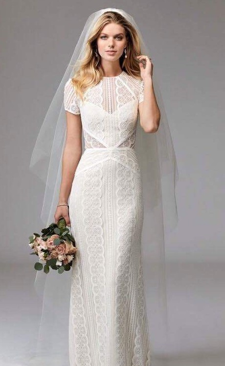Watters White lace with white underlay