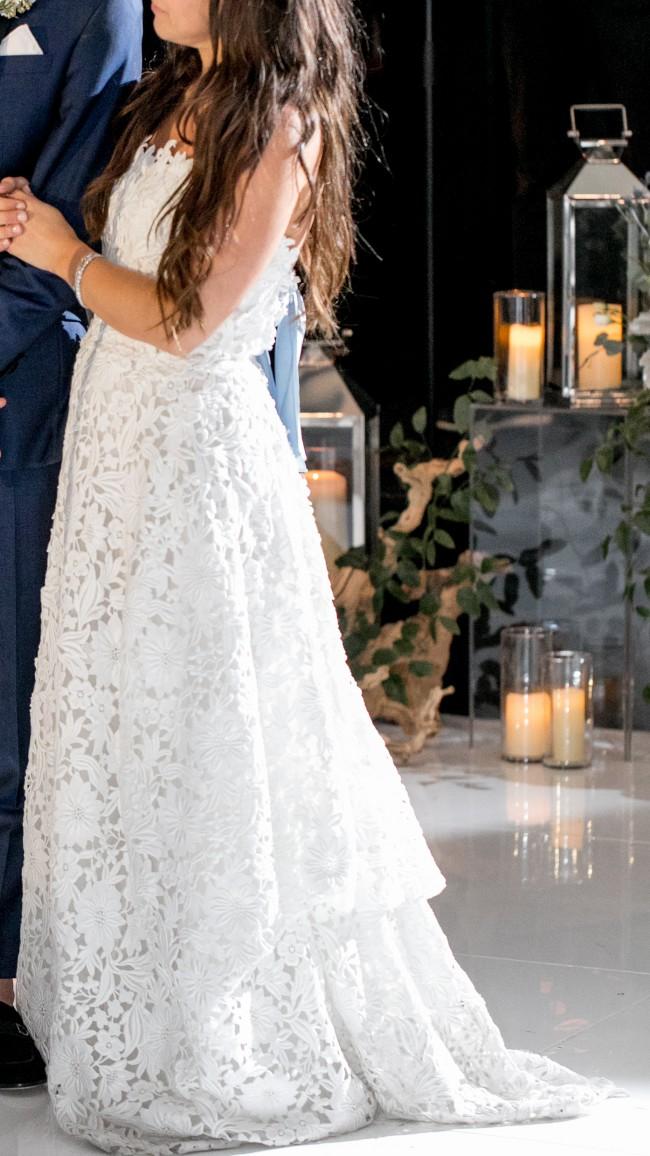 Carolina Herrera, Strapless Lace Gown