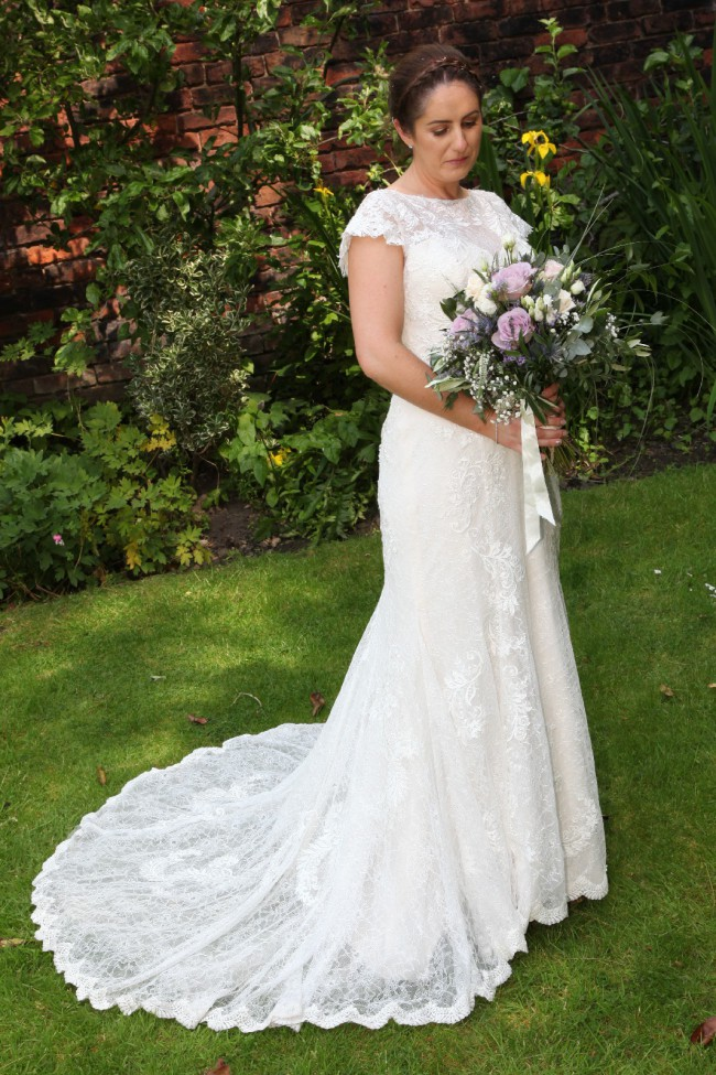 Lillian West 6490 (the sleeves have been custom made as an adde