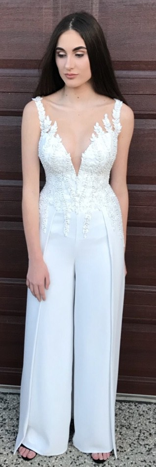 Angela Manno Custom Made - Bridal Goddess Jumpsuit