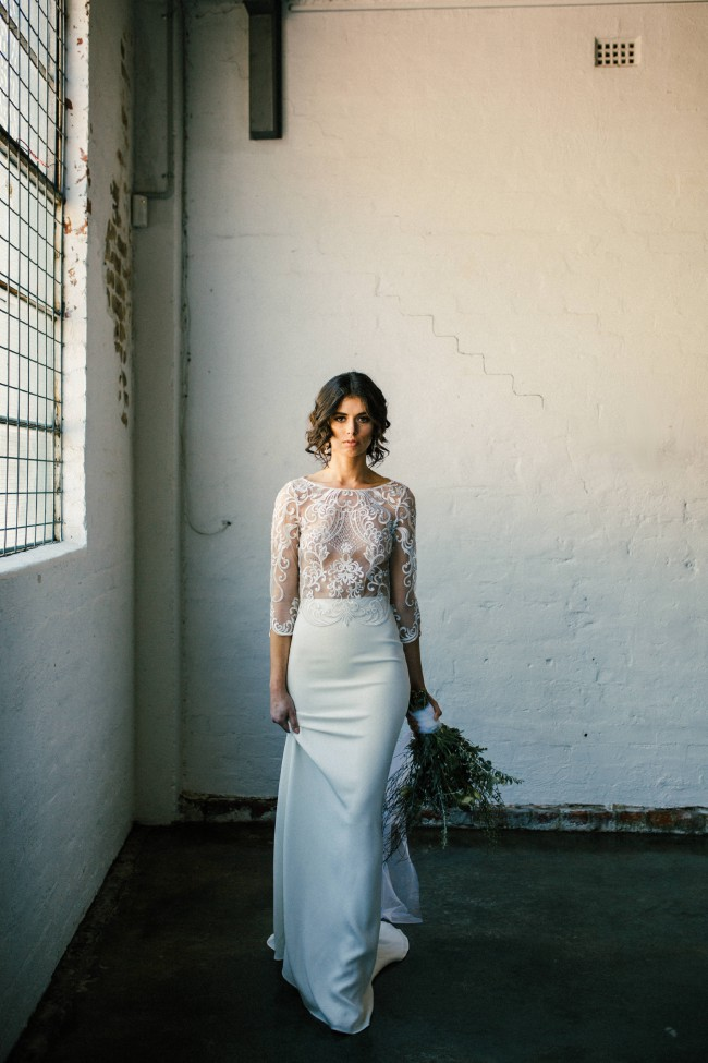 5a3148dc68bf1c Campbell Spencer Exile Lace Top and Ascend Silk Skirt New Wedding ...