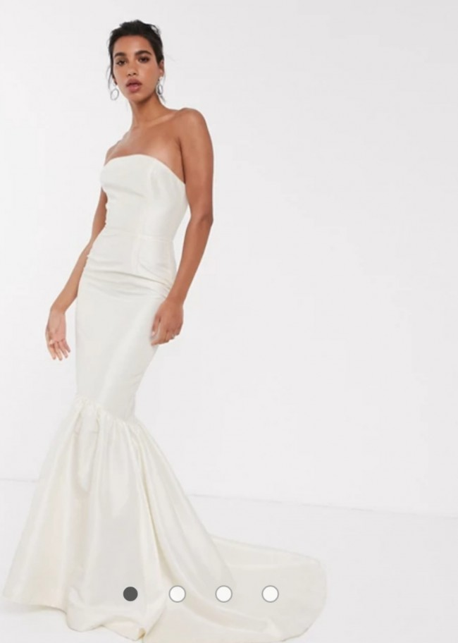ASOS Bridal Bandeau wedding dress with trumpet hem