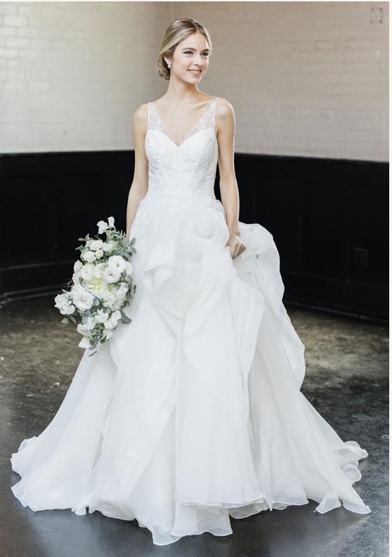 Truly Zac Posen, Horsehair Tier Skirt Wedding Dress
