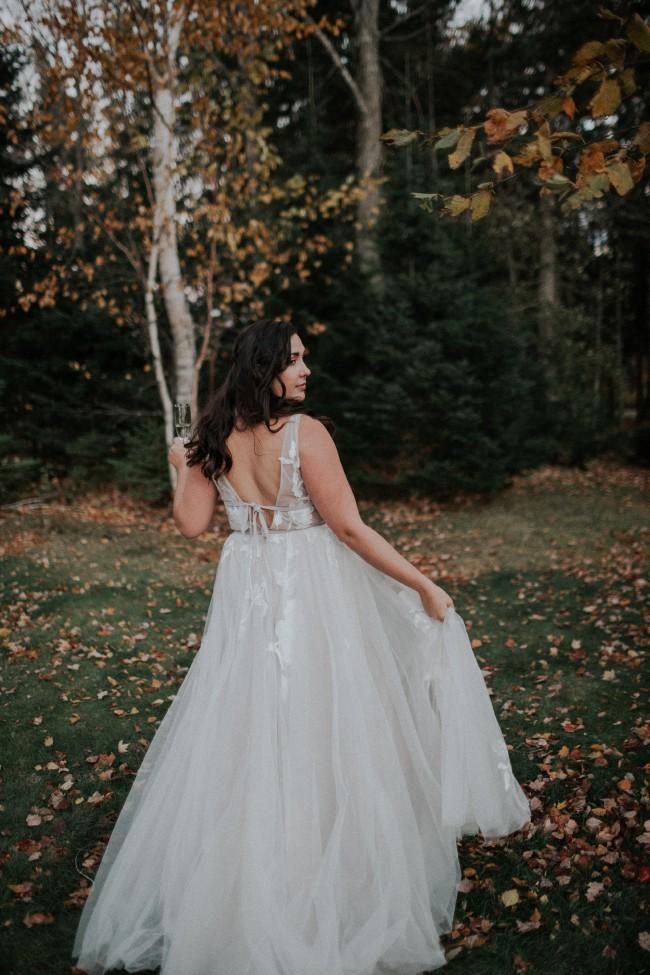 Language In 45 And 47 Stella Street: Willowby Galatea 50704 (Titanium) Used Wedding Dress On