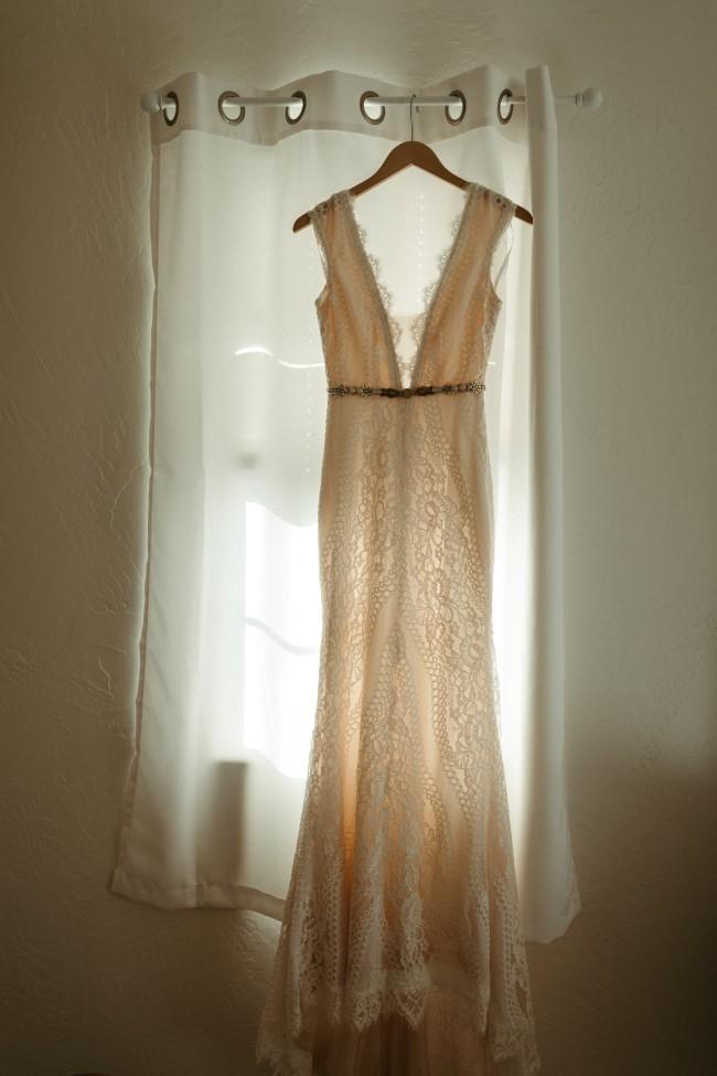 Emmy Mae Sage- custom lace and waist detail added