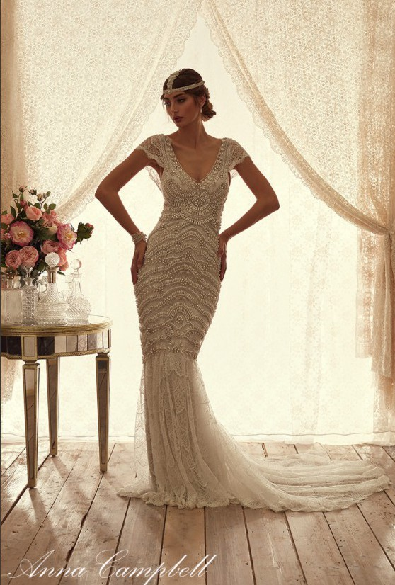 Anna Campbell Coco Fit And Flare Embellished Used Wedding