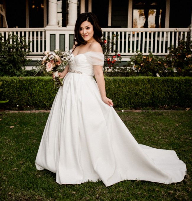 David S Bridal Wedding Gowns: David's Bridal Pleated Strapless Wedding Dress With Empire