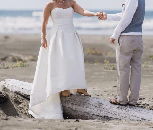 Carolina Herrera, Fabel, Silk Makado, Ivory, Traditional Wedding Dre