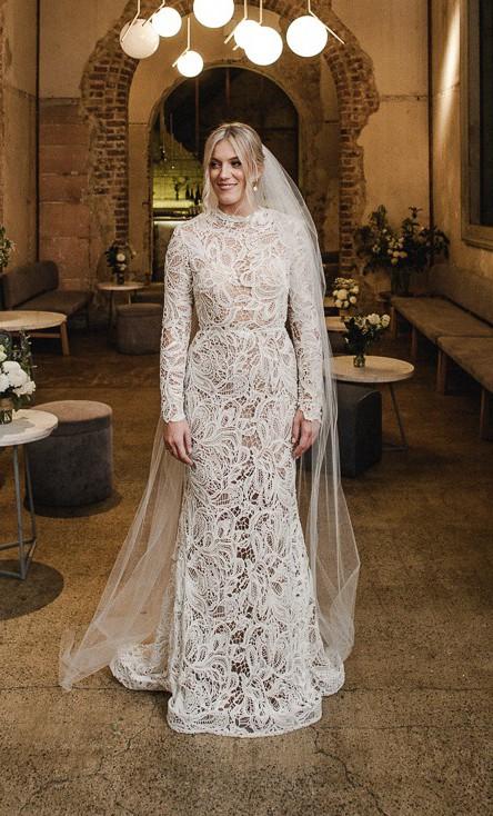 Couture By Francesca Winter bridal Lace Dress