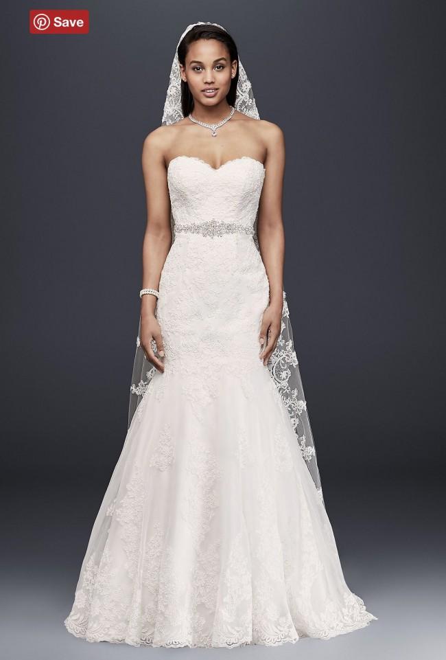 0a8d0e10049 David s Bridal Collection V3680 New Wedding Dress on Sale 50% Off ...