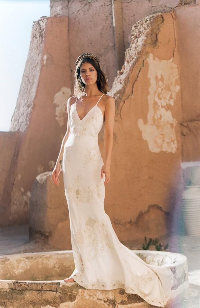 Spell & The Gypsy Collective Spell Bride Odette Silk Slip Wedding Dress