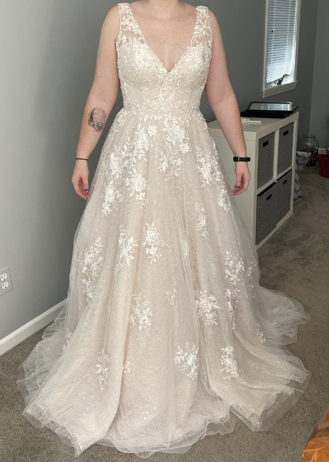 Maggie Sottero, Ivory Lace over Soft Blush