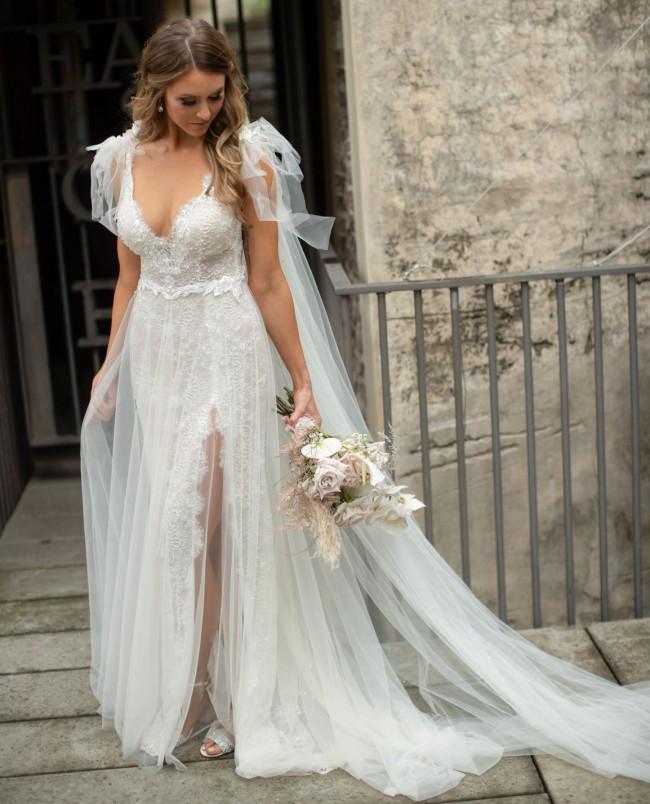 Berta Muse - Donatella + swarovski veil