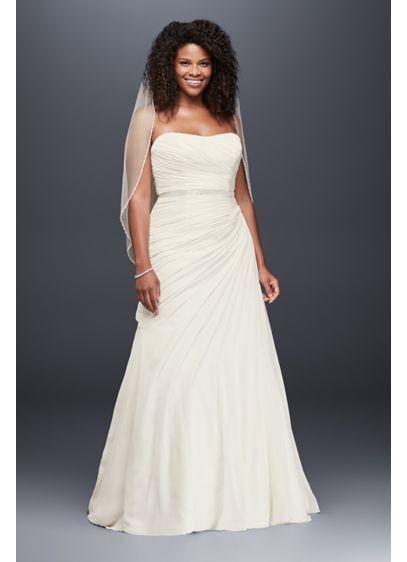 David\'s Bridal Collection Crinkle Chiffon Draped Plus Size 9V3540 ...
