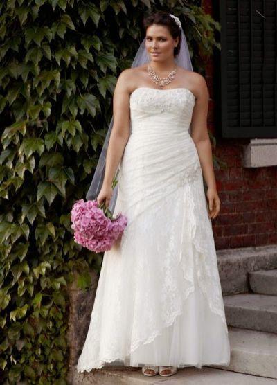 David's Bridal Petal Dress