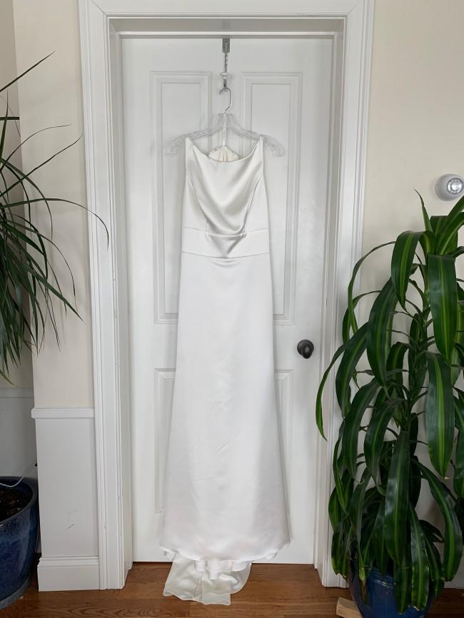 Paloma Blanca Refined Satin Wedding Dress Style #4894