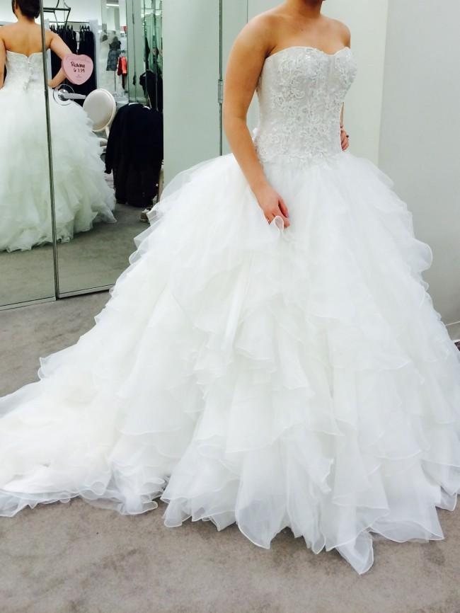 8619b765c678 Oleg Cassini cwg568 New Wedding Dress on Sale - Stillwhite
