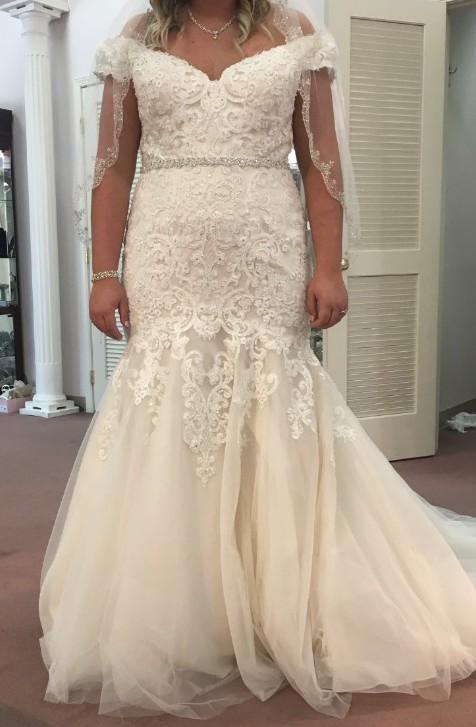 Morilee 3234 Kariana Off-The-Shoulder Trumpet Wedding Gown
