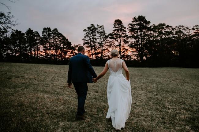 Oleg Cassini Scalloped Lace Wedding Dress with V-Neckline