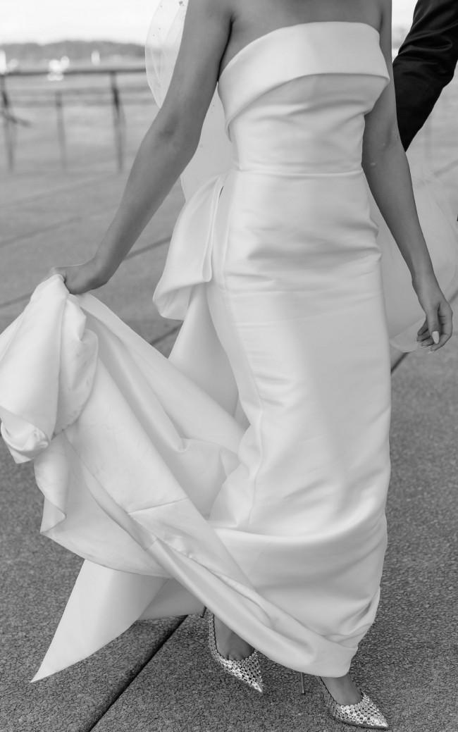 Leah Da Gloria CUSTOM Gown w/ wrap/bow