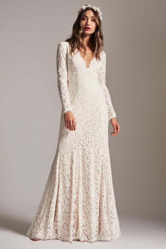 b1593bf5505 Tadashi Shoji Sample Wedding Dress on Sale 54% Off - Stillwhite