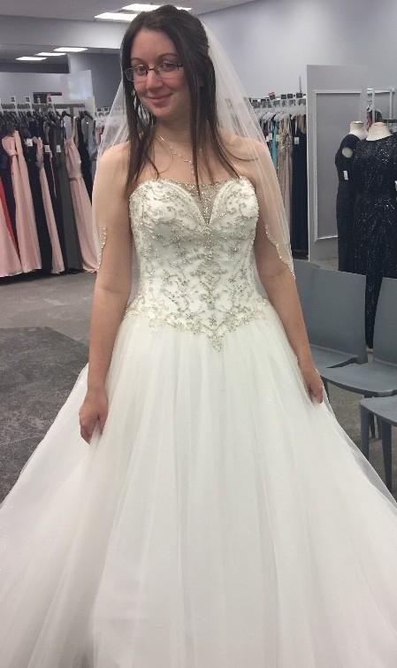 David's Bridal V3849 SOFTWHITE