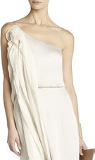 BCBGMAXAZRIA Nalda One-Shoulder Long Ruffle Dress