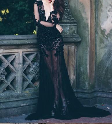 Elly Sofocli Claudette gown in Noir